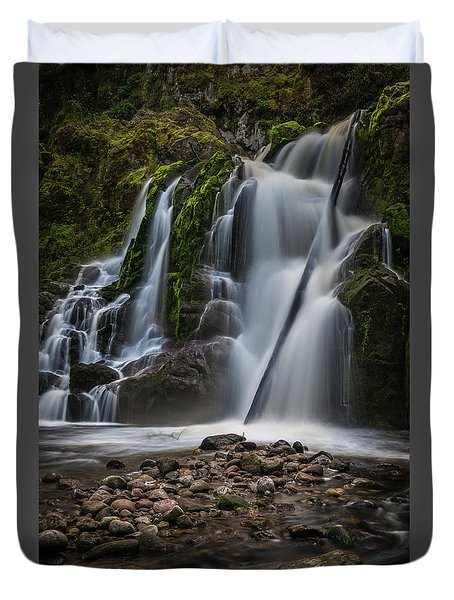 Forest Waterfall Duvet Cover by Chris McKenna
