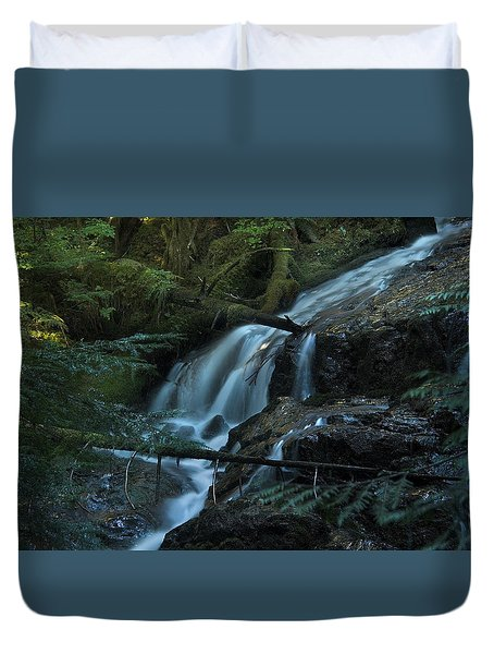 Forest Waterfall. Duvet Cover