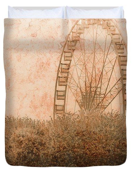 Paris, France - Forest Wheel Duvet Cover