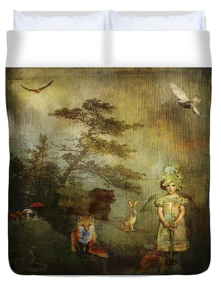Forest Wonderland Duvet Cover by Diana Boyd