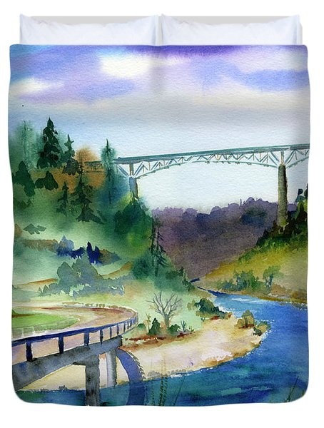 Foresthill Bridge #2 Duvet Cover