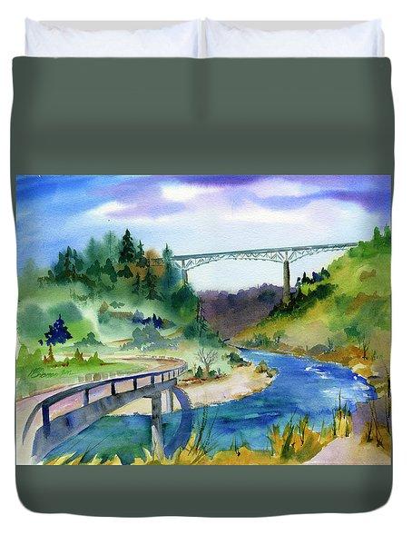 Foresthill Bridge #2 Duvet Cover