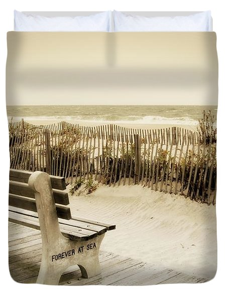 Forever At Sea - Jersey Shore Duvet Cover