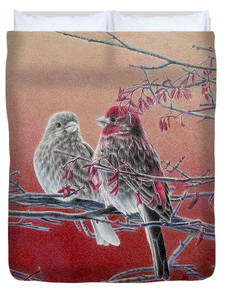 Forever Finch Duvet Cover