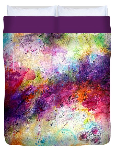 Forever Is A Long Time Duvet Cover by Tracy Bonin