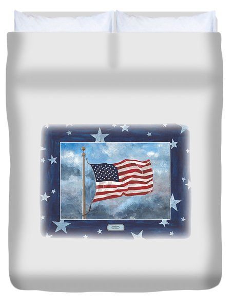 Forever Old Glory  Duvet Cover by Herb Strobino
