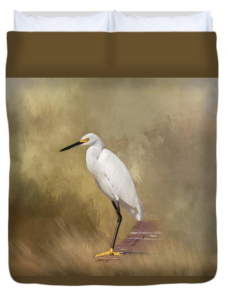 Duvet Cover featuring the photograph Forever Watching by Kim Hojnacki