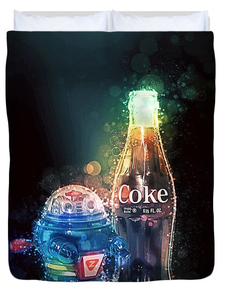 Forever Young Coca-cola Duvet Cover