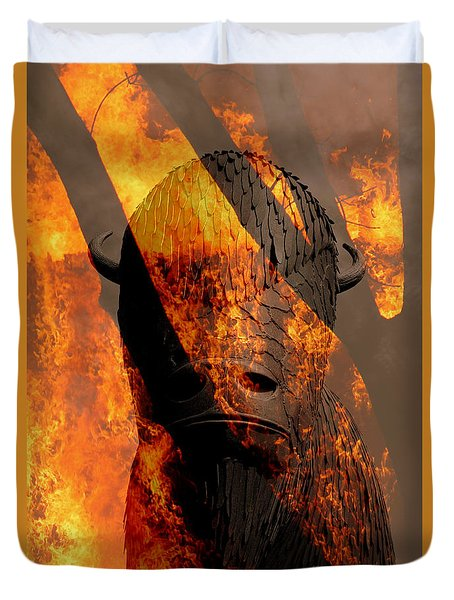 Forged In Fire Duvet Cover