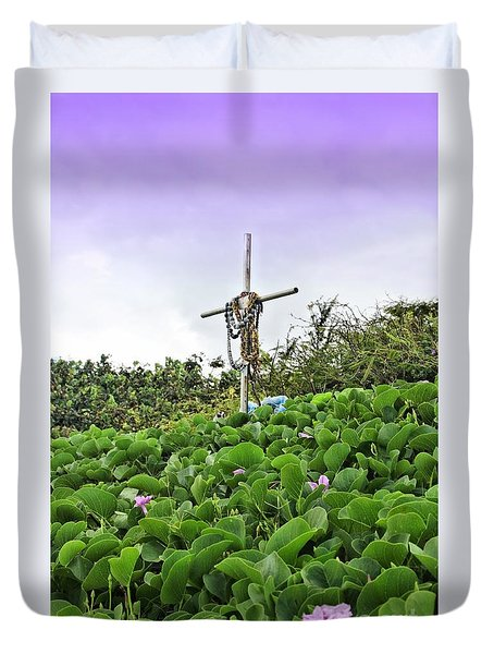 Duvet Cover featuring the photograph Forget Me Not by DJ Florek