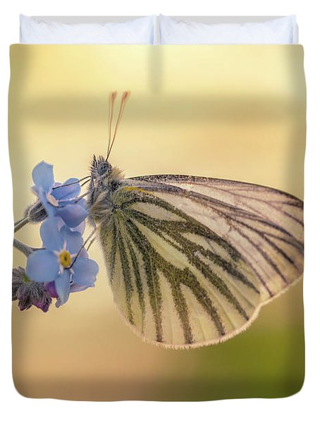 Forget Me Not Duvet Cover by Jaroslaw Blaminsky