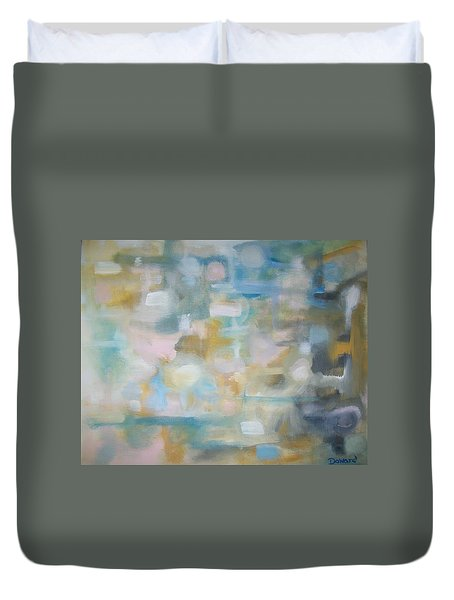 Duvet Cover featuring the painting Forgetting The Past by Raymond Doward