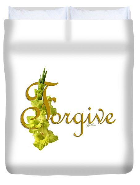 Forgive Duvet Cover by Ann Lauwers