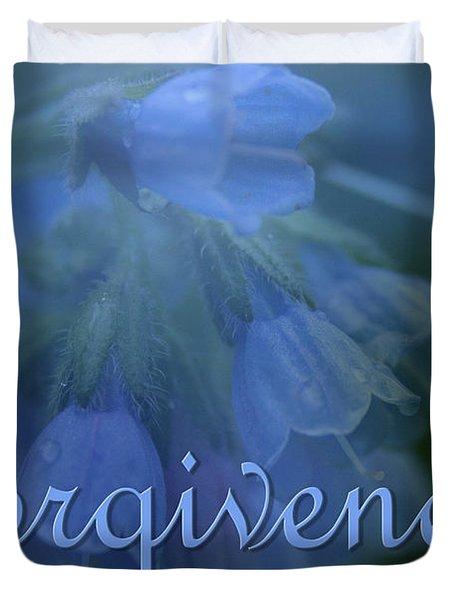 Forgiveness Blue Bells Duvet Cover