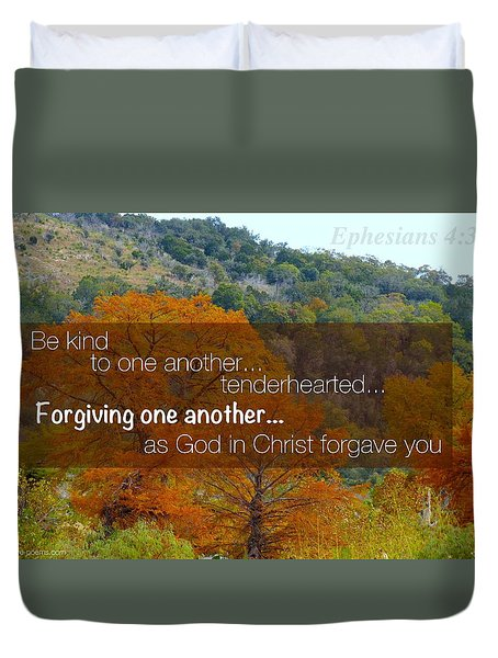 Forgiveness1 Duvet Cover by David Norman