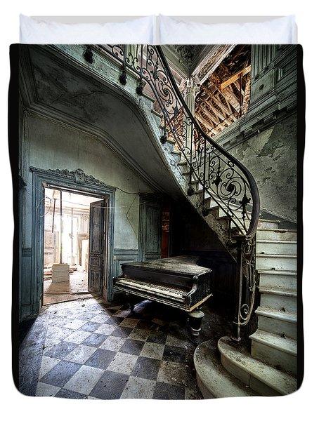 Forgotten Ancient Piano - Urban Exploration Duvet Cover by Dirk Ercken