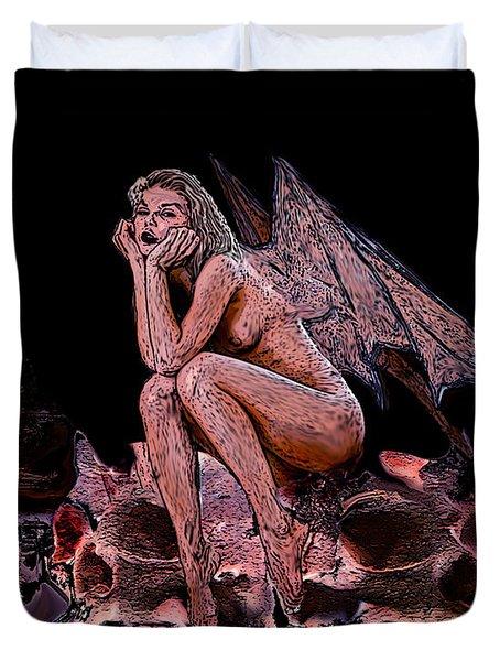 Forgotten Angel Duvet Cover by Tbone Oliver