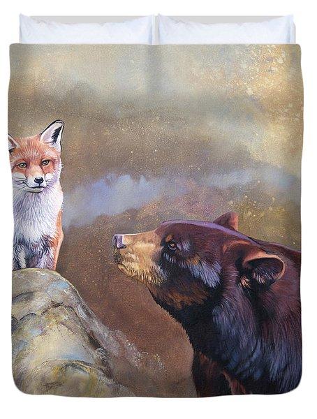 Forgotten Bear Tales Duvet Cover