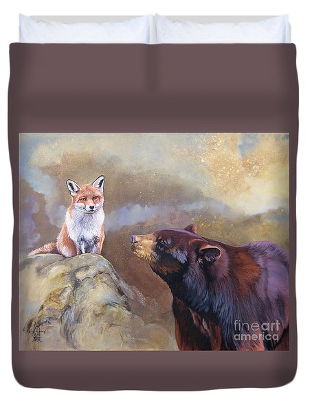 Forgotten Bear Tales Duvet Cover