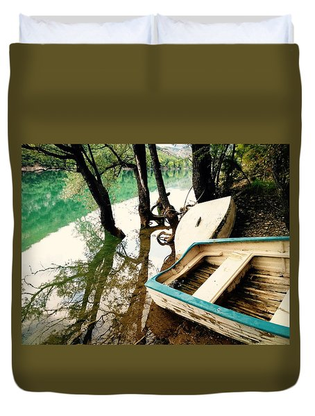 Forgotten Boats Duvet Cover