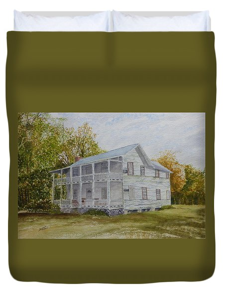 Duvet Cover featuring the painting Forgotten By Time by Joel Deutsch