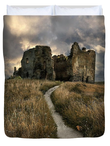 Forgotten Estonian Castle Duvet Cover
