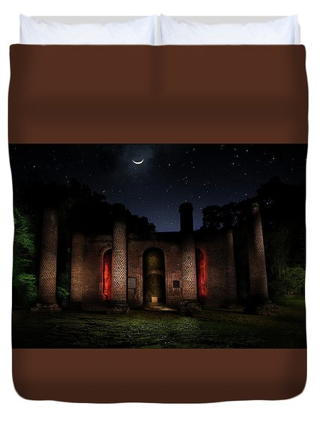 Duvet Cover featuring the photograph Forgotten Gods by Mark Andrew Thomas