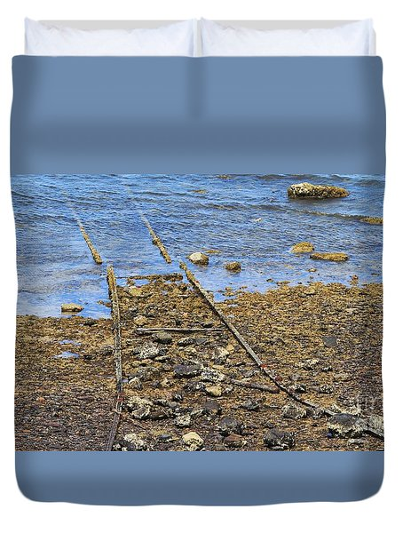 Duvet Cover featuring the photograph Forgotten Line II by Stephen Mitchell