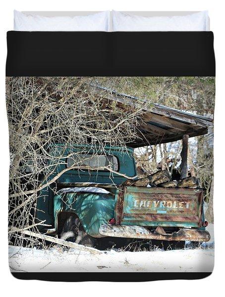 Forgotten Truck Duvet Cover