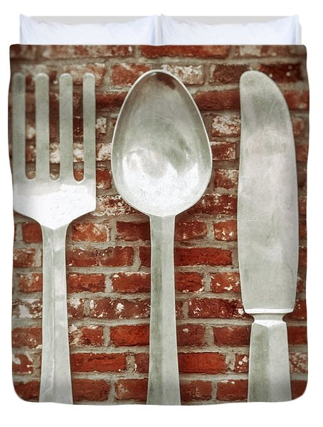 Fork Spoon Knife Duvet Cover by Wim Lanclus