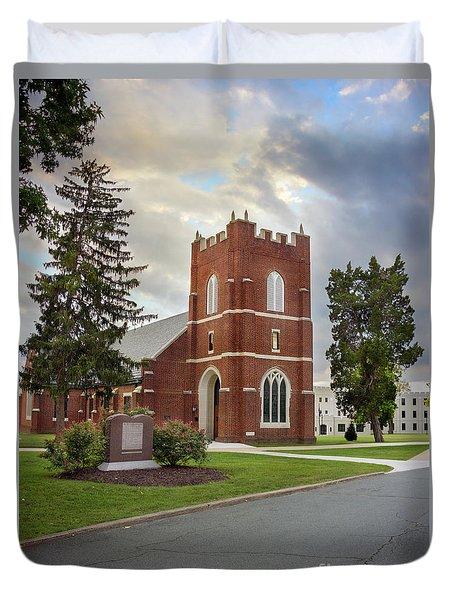 Fork Union Military Academy Wicker Chapel Sized For Blanket Duvet Cover
