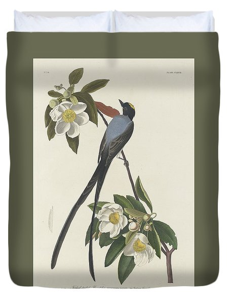 Forked-tail Flycatcher Duvet Cover