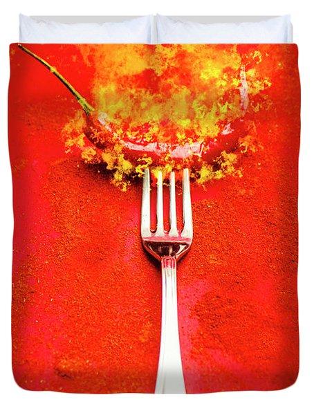 Forking Hot Food Duvet Cover