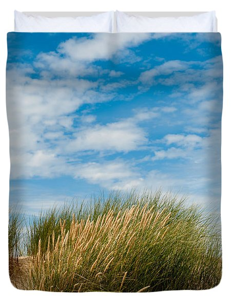 Formby Sand Dunes And Sky Duvet Cover