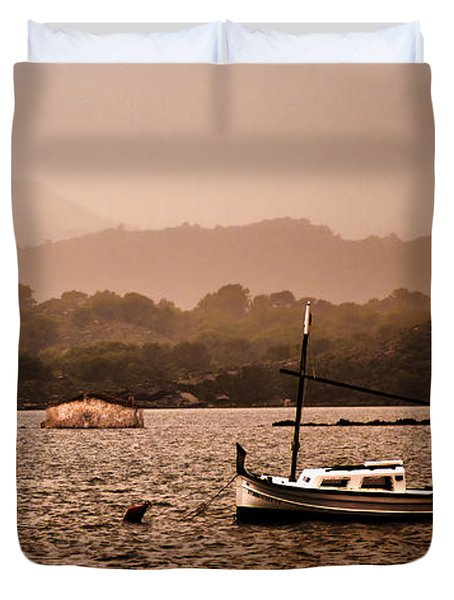 Fornells Bay In Menorca Island - Even Most Beautiful Places Have Secrets To Hide By Pedro Cardona Duvet Cover
