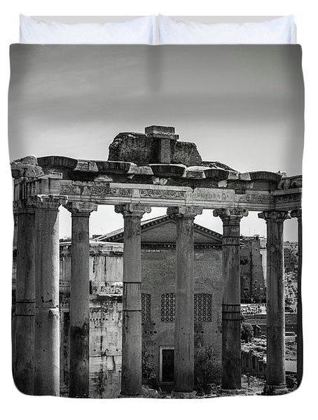Foro Romano, Rome Italy Duvet Cover