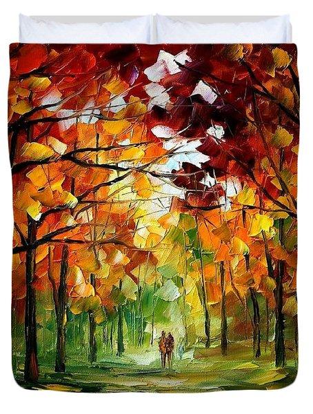 Forrest Of Dreams Duvet Cover by Leonid Afremov