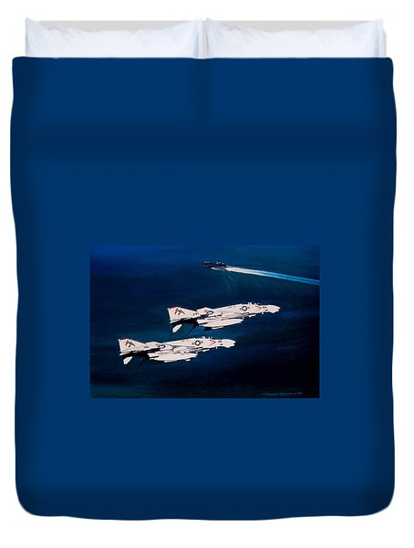 Forrestal S Phantoms Duvet Cover by Marc Stewart