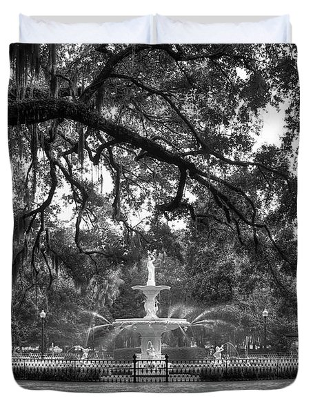 Forsyth Park Fountain 2 Savannah Georgia Art Duvet Cover