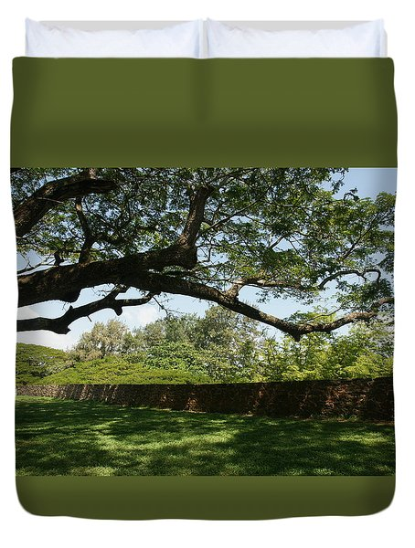 Duvet Cover featuring the photograph Fort Galle by Christian Zesewitz