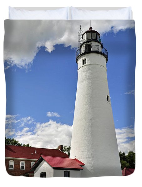 Fort Gratiot Light Duvet Cover by Rodney Campbell