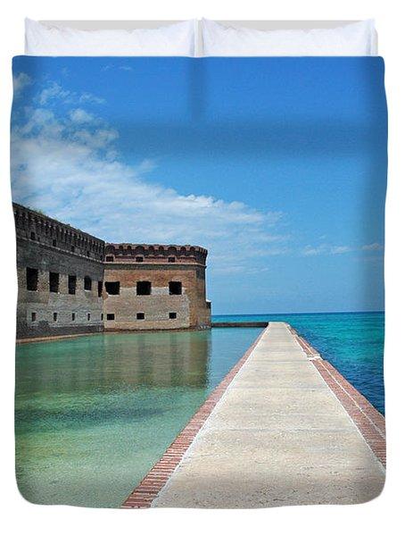 Fort Jefferson Dry Tortugas Duvet Cover by Susanne Van Hulst