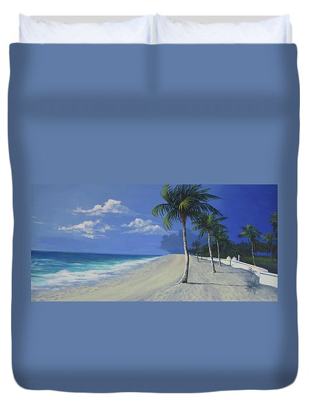 Fort Lauderdale Beach Duvet Cover