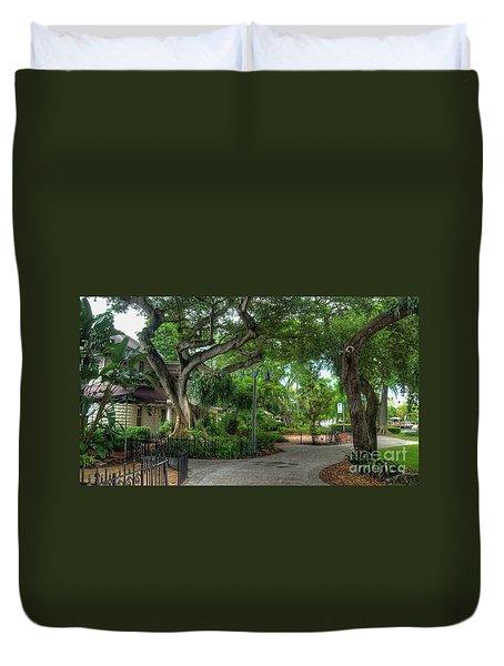 Fort Lauderdale Riverwalk Scenic Duvet Cover