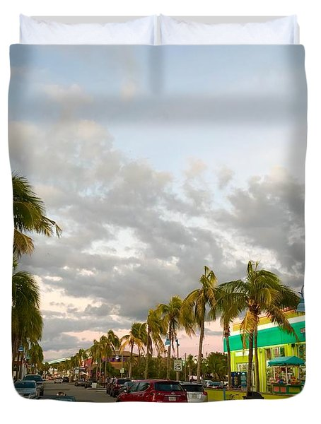 Fort Meyers, Florida Duvet Cover