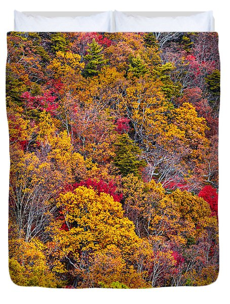 Fort Mountain State Park Cool Springs Overlook Duvet Cover by Bernd Laeschke