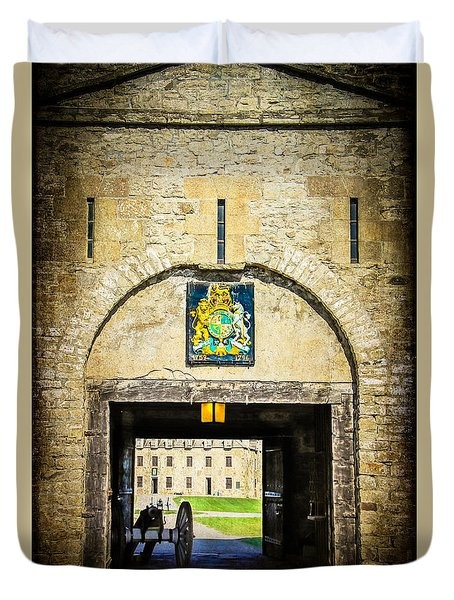 Fort Niagara Entranceway Duvet Cover by Kathleen Scanlan