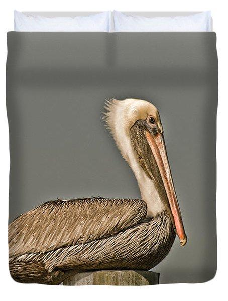 Fort Pierce Pelican Duvet Cover