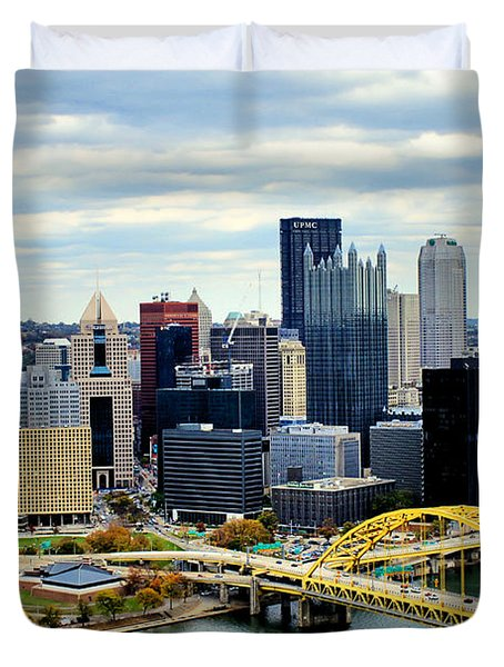 Fort Pitt Bridge Duvet Cover