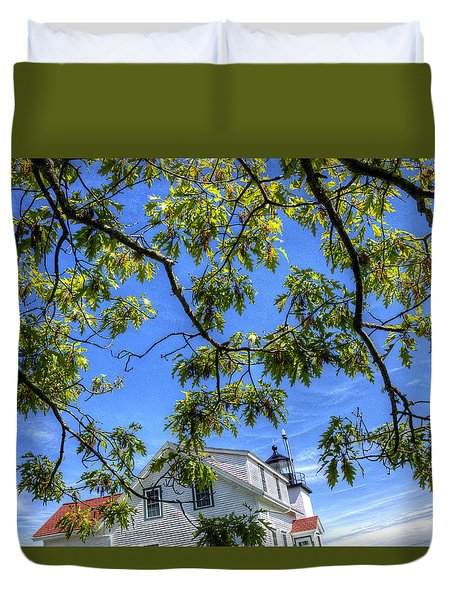 Fort Point Lighthouse Duvet Cover